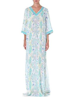 MATTHEW WILLIAMSON Blossom Snake printed kaftan