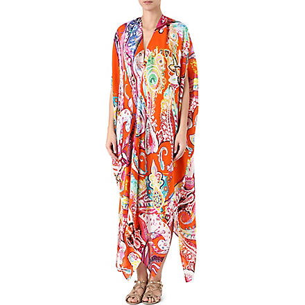 ETRO Printed long silk kaftan (750