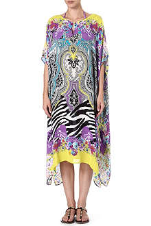 ETRO Printed long silk kaftan