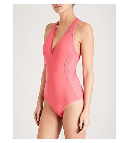 STELLA MCCARTNEY Classic neoprene and mesh swimsuit (Pink