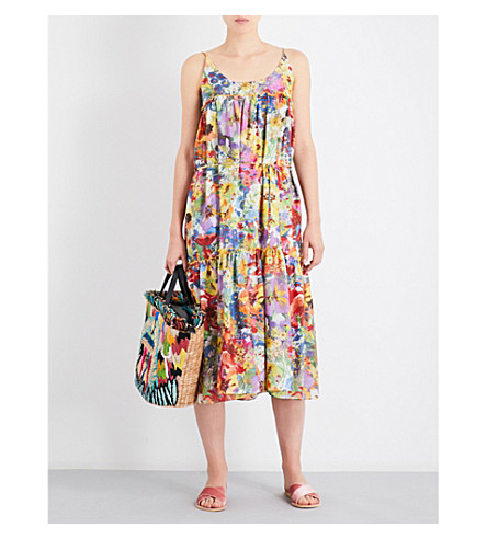 STELLA MCCARTNEY Floral-print cotton and silk-blend dress (Floral+print