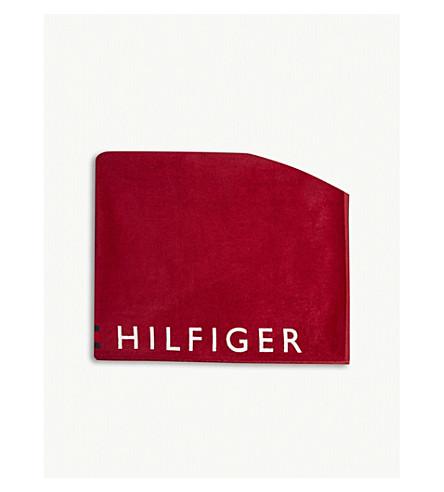 TOMMY HILFIGER Logo cotton towel (Nvy+blazer+b+white+t+red