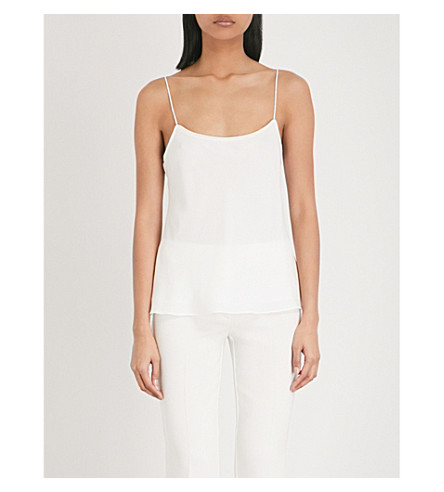 THEORY Racer silk camisole (Ivory