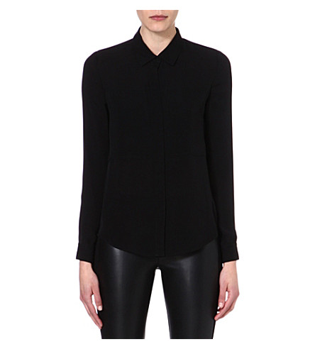 THEORY Silk shirt (Black