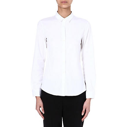 THEORY Stretch-cotton shirt (White