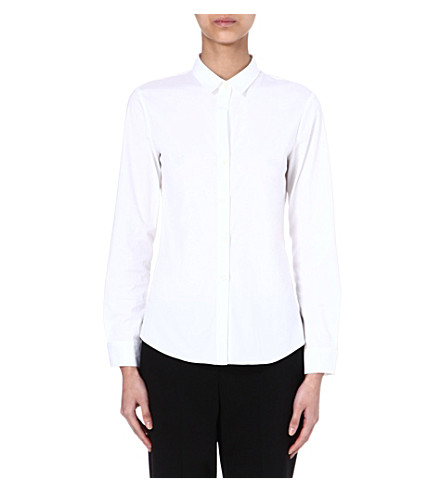 THEORY Stretch-cotton shirt (White