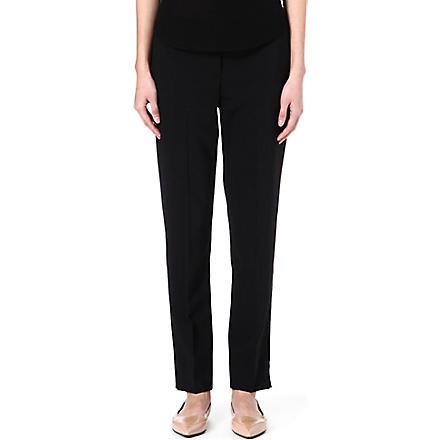 THEORY High-rise trousers (Black