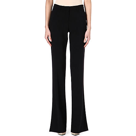 THEORY Wool-blend flared trousers (Black