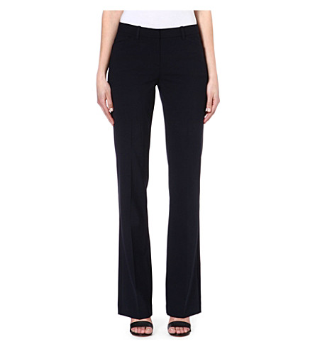 THEORY Wool-blend flared trousers (Uniform