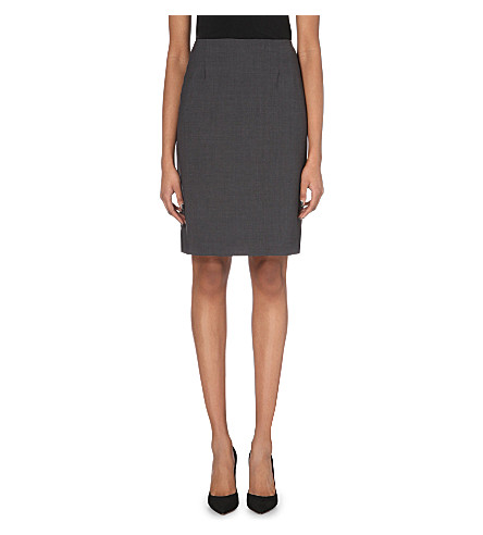 THEORY Golda pencil skirt (Charcoal