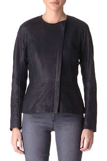 THEORY Enora leather biker jacket