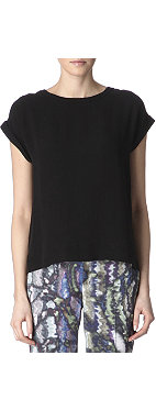 THEORY Sorcha silk top