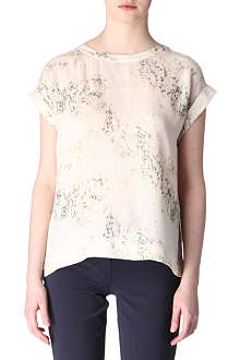 THEORY Silk cherry top