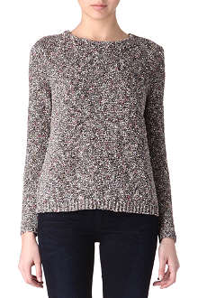 THEORY Zelphia knitted tweed jumper