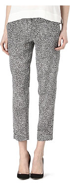 THEORY Patterned silk trousers