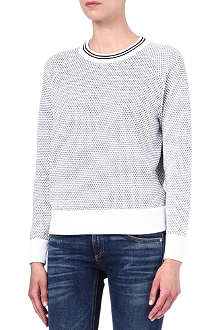 THEORY Coranda honeycomb jumper