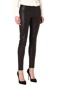 THEORY Miana leather leggings