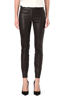 THEORY Masia leather trousers