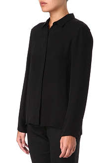 THEORY Simra pleated-back shirt
