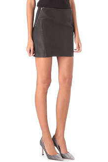 THEORY Leather zip detail skirt