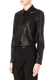 THEORY Will leather shirt
