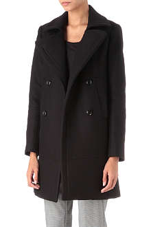 THEORY Gaila funnel neck wool-blend coat