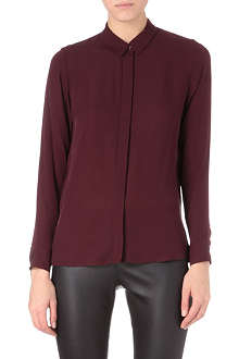 THEORY Driya side-zip silk shirt