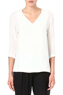 THEORY Madlan v-neck blouse
