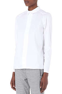 THEORY Bida zipped shirt