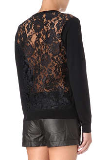 THEORY Jaidyn lace-back jumper
