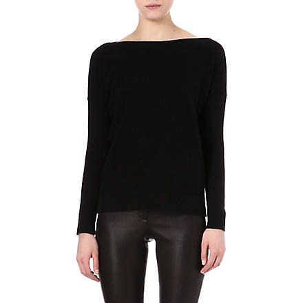 THEORY Libblyn cotton and cashmere-blend jumper (Black