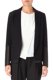 THEORY Antonio leather-panel blazer