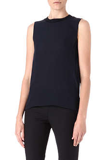 THEORY Double georgette sleeveless top