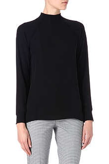 THEORY Double georgette top