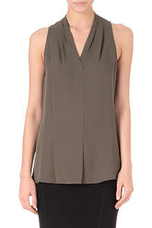 THEORY Hylin halterneck silk blouse