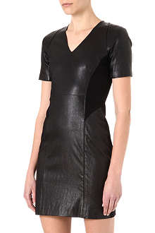 THEORY Serto L leather dress