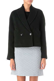 THEYSKENS' THEORY Jaglan cropped wool-blend coat