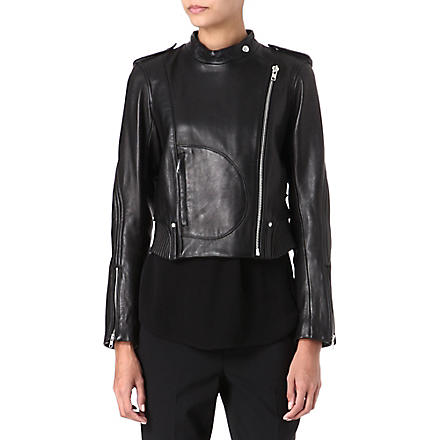 THEORY Katiana leather jacket (Black