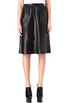THEORY Gelsey Prud leather skirt