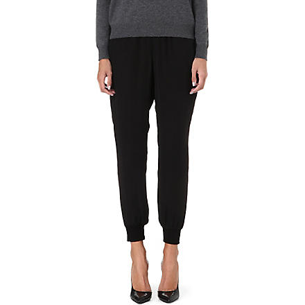 THEORY Arai silk trousers (Black