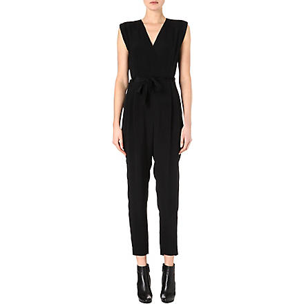THEORY Pavona silk jumpsuit (Black
