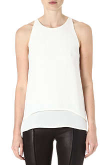 THEORY Lyalka sleeveless silk top