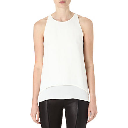 THEORY Lyalka sleeveless silk top (White