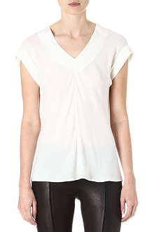 THEORY Gyda silk top