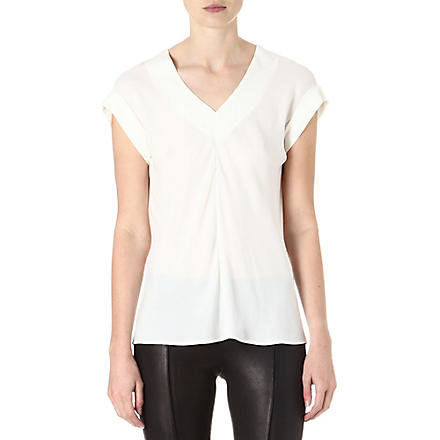 THEORY Gyda silk top (White