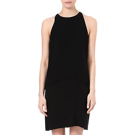 THEORY Lyall layered dress (Black