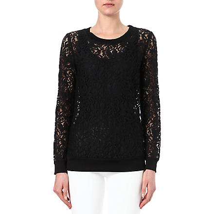 THEORY Jaidyn lace jumper (Black