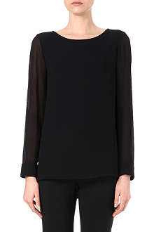 THEORY Toska silk-sleeved top