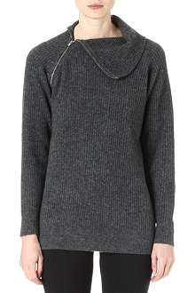 THEORY High neck knitted jumper