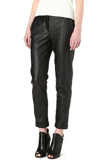 THEORY Kanga leather trousers